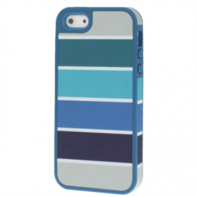 Speck Hard Rubber Fabric Stripe Back Case Cover for iPhone 5/5s - Blue