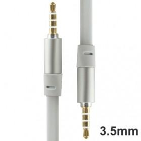 Kabel AUX 3.5mm HiFi Noodle Design 1m - White - 2