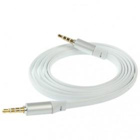 Kabel AUX 3.5mm HiFi Noodle Design 1m - White - 4