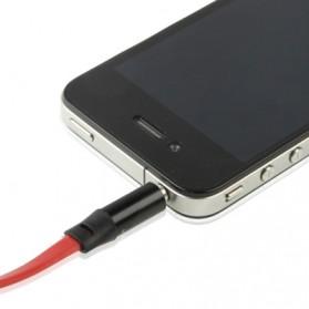 ROVTOP Kabel AUX 3.5mm HiFi Noodle Design 1m - S-IP4G - Red - 3