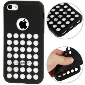 Hollow Dot TPU Case for iPhone 5C - Black