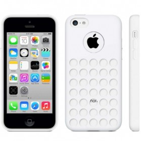 Hollow Dot TPU Case for iPhone 5C - White