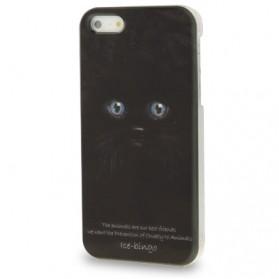 Animal Series Black Cat Pattern Plastic Case for iPhone 4 & 4S - Black