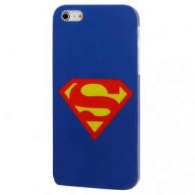 Superman plastic Case for iPhone 5 & 5S - Blue