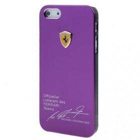 Ferrari Pattern Metal Case for iPhone 5 & 5S - Purple