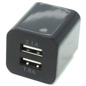USB Charger 2 Port EU Plug - JBL1309 - Black