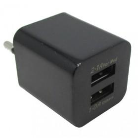 USB Charger 2 Port EU Plug - JBL1309 - Black - 3