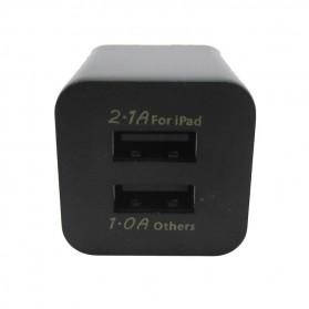 USB Charger 2 Port EU Plug - JBL1309 - Black - 4