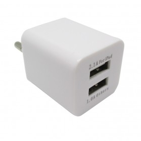 USB Charger 2 Port EU Plug - JBL1309 - White