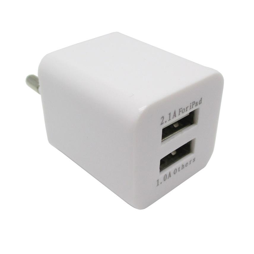 dual usb charger europe socket plug jbl1309 white. Black Bedroom Furniture Sets. Home Design Ideas