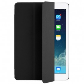 Polyurethane Smart Cover 3-folding for iPad Air - Black