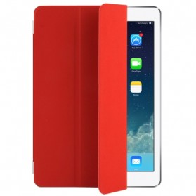 Polyurethane Smart Cover 3-folding for iPad Air - Red