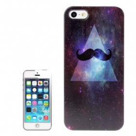 Moustache (Cosmic Background) Pattern Plastic Case for iPhone 5 & 5S