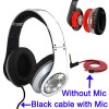High Definition On-Ear Headphones for iPhone 4 & 4S with Logo - White