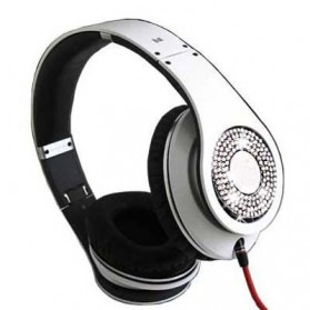 High Definition On-Ear Headphones for Smartphone with Logo - White - 3