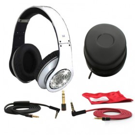 High Definition On-Ear Headphones for Smartphone with Logo - White - 6