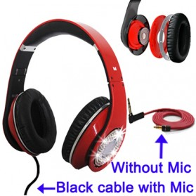 High Definition On-Ear Headphones for Smartphone with Logo - Red