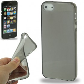 Transparent TPU Case for iPhone 5/5s - Gray