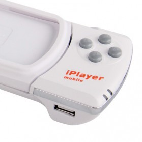 Wireless Bluetooth Game Controller for iPhone 4 & 4S/iPod Touch - White - 5