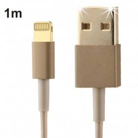 Apple Lightning Gold Plating to USB Cable iOS 7 Compatible 1m - Golden