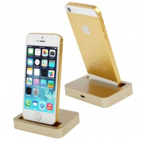 Apple Charging Dock Lightning 8 Pin for iPhone 5/5s/5c/iPod touch 5 - Golden - 1