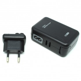 Thunder Traveler Charger 4 USB Port 5V 2A with Single EU Plugs - Black
