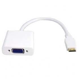 EASYIDEA Adapter Mini HDMI ke VGA Female Dengan Audio - HV100200 - White