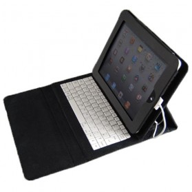 IPad PU keyboard with protective leather case - Black