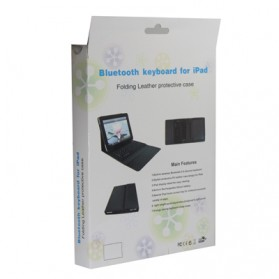 Bluetooth Keyboard with Folding Leather Protective Case for New iPad and iPad 2 - 6