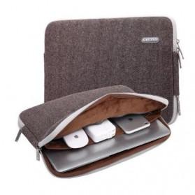 Kayond Waterproof Sleeve Case for Laptop 13 Inch - Brown