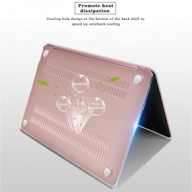 Crystal Case for Macbook Pro 16 Inch Touchbar 2019 A2141 - SZEGY - Matte Black - 4