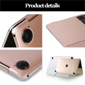 Crystal Case for Macbook Pro 16 Inch Touchbar 2019 A2141 - SZEGY - Gray - 5