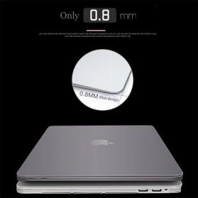 Crystal Case for Macbook Pro 16 Inch Touchbar 2019 A2141 - SZEGY - Gray - 6