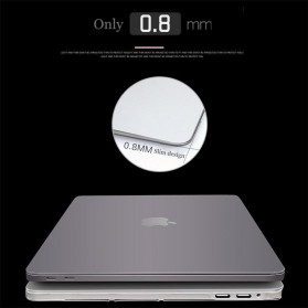 Crystal Case for Macbook Pro 16 Inch Touchbar 2019 A2141 - SZEGY - Matte Transparant - 6