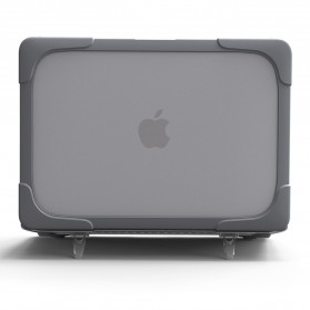 Shockproof Armor Case with Stand for Macbook Pro 13 Touchbar A1706 A1708 - Gray