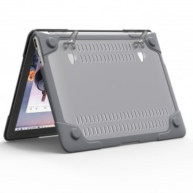 Shockproof Armor Case with Stand for Macbook Pro 13 Touchbar A1706 A1708 - Gray - 4