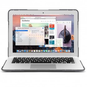 Shockproof Armor Case with Stand for Macbook Pro Retina 15 Inch A1398 - Gray - 2