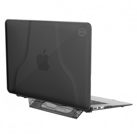 GearMax Shockproof Armor Case with Stand for Macbook Air 13 Inch A1369 A1466 - C2394 - Black