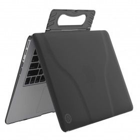 GearMax Shockproof Armor Case with Stand for Macbook Air 13 Inch A1369 A1466 - C2394 - Black - 5