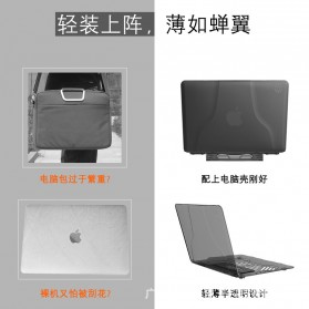 GearMax Shockproof Armor Case with Stand for Macbook Air 13 Inch A1369 A1466 - C2394 - Black - 6
