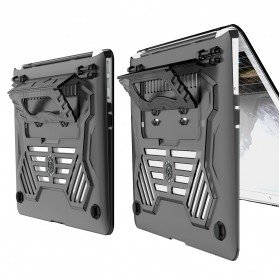 GearMax Shockproof Armor Case with Stand for Macbook Air 13 Inch A1369 A1466 - C2394 - Black - 9