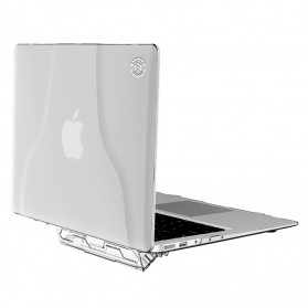 GearMax Shockproof Armor Case with Stand for Macbook Air 13 Inch A1369 A1466 - C2394 - Transparent
