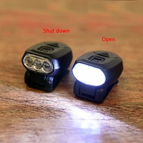 TaffLED Senter Clip Topi 90 Degree Rotatable 3 LED COB - 3325 - Black - 3