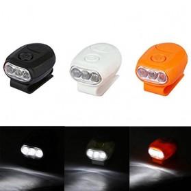 TaffLED Senter Clip Topi 90 Degree Rotatable 3 LED COB - 3325 - Black - 4