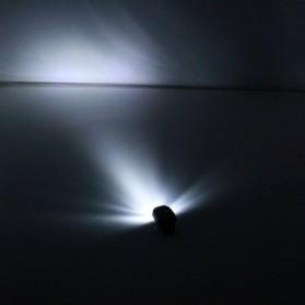 TaffLED Senter Clip Topi 90 Degree Rotatable 3 LED COB - 3325 - Black - 6