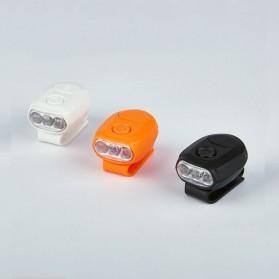 TaffLED Senter Clip Topi 90 Degree Rotatable 3 LED COB - 3325 - Black - 8