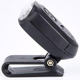 TaffLED Senter Clip Topi 90 Degree Rotatable 3 LED COB - 3325 - Black - 9
