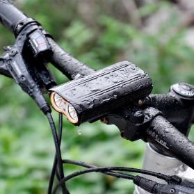 NEWBOLER Lampu Sepeda LED XM-L T6 Dual Head 7000 Lumens - LIG015 - Black - 2