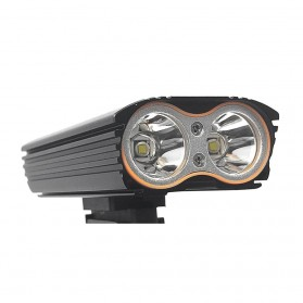 NEWBOLER Lampu Sepeda LED XM-L T6 Dual Head 7000 Lumens - LIG015 - Black - 3