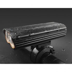 NEWBOLER Lampu Sepeda LED XM-L T6 Dual Head 7000 Lumens - LIG015 - Black - 4